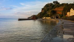 Strandboulevard in Dawlish stock foto