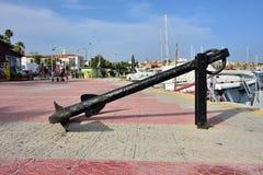 Strandboulevard in Lavrion, Griekenland Stock Afbeeldingen