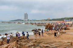 Strandboulevard van Qingdao stock foto's
