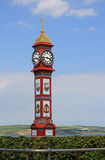 Strandboulevard weymouth met klokketoren Royalty-vrije Stock Fotografie