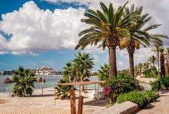 Strandboulevardpromenade van Ibiza Royalty-vrije Stock Afbeelding