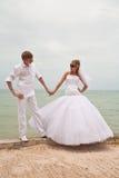 strandbröllop Royaltyfria Foton