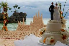 strandbröllop Arkivfoto
