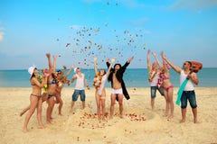 strandbröllop Royaltyfri Foto