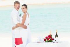 strandbröllop Arkivbilder