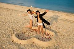 strandbröllop Arkivbild