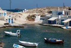 Strandbuurt, Milos, Griekenland Stock Fotografie