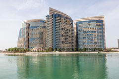 Strandbyggnad i Abu Dhabi Arkivbilder