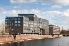 Strandbyggnader i Bremen, Tyskland Royaltyfri Bild