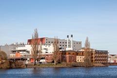 Strandbyggnader i Bremen, Tyskland Royaltyfria Foton