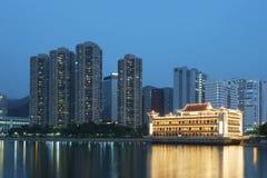 Strandbyggnader i Hong Kong Arkivbilder