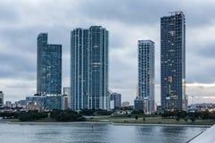 Strandbyggnader i Miami Royaltyfri Fotografi