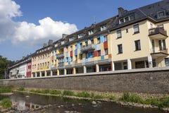 Strandbyggnader i Siegen, Tyskland Fotografering för Bildbyråer