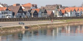 strandbyggnader minden Tyskland Royaltyfri Bild