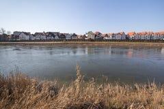 strandbyggnader minden Tyskland Fotografering för Bildbyråer