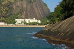 strandbyggnadsstrand royaltyfri foto