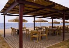 strandcafe Royaltyfria Foton