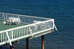 Strandcafe i morgonen Royaltyfri Bild