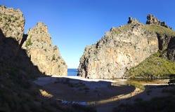 strandcalobra sa Mallorca Spanien royaltyfri fotografi