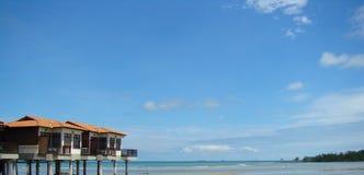 Strandchalet Stockbild