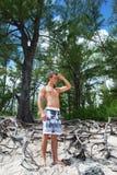 stranddag Arkivfoto
