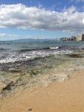 Stranddag stock afbeeldingen