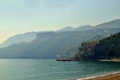 Stranddag in Maiori Stock Afbeelding
