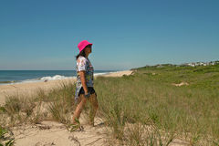 Stranddag in Montauk, Long Island New York, de V.S. stock afbeelding