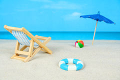 stranddagdiorama Royaltyfri Foto