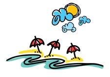 stranddagflicka little seende vatten Arkivbilder