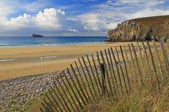 Strandde Pen Hat, Bretagne, Frankreich Stockbild