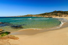 Strandde Petra Muna, nahe Calvi in Korsika Stockfotografie