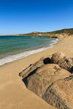 Strandde Petra Muna, nahe Calvi in Korsika Stockbilder