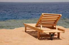 stranddeckchair Fotografering för Bildbyråer