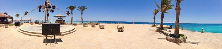 Stranddisko i Egypten Royaltyfri Fotografi