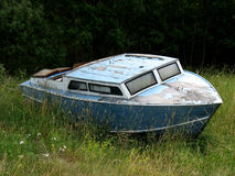 Stranded. A boat stranded, most likely forever royalty free stock photography