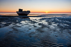 Stranded boat Royalty Free Stock Photography