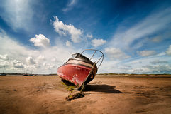 Stranded Boat Stock Photo
