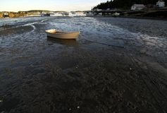 Stranded Boat at Low Tide Stock Images