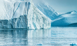Stranded icebergs at the mouth of the Icefjord near Ilulissat, G Stock Photography