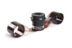 Stranded negative film Stock Image