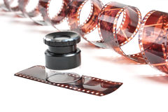 Stranded negative film Stock Images