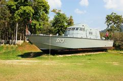 Stranded Police Boat, remainder of the 2004 Royalty Free Stock Photography