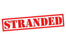 STRANDED. Red Rubber Stamp over a white background Stock Images