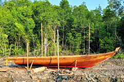 Stranded row boat Stock Photography
