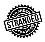 Stranded rubber stamp. Grunge design with dust scratches. Effects can be easily removed for a clean, crisp look. Color is easily changed Royalty Free Stock Images