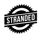 Stranded rubber stamp. Grunge design with dust scratches. Effects can be easily removed for a clean, crisp look. Color is easily changed Royalty Free Stock Image
