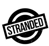 Stranded rubber stamp. Grunge design with dust scratches. Effects can be easily removed for a clean, crisp look. Color is easily changed Stock Photography