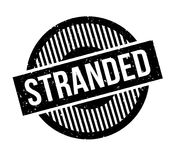 Stranded rubber stamp. Grunge design with dust scratches. Effects can be easily removed for a clean, crisp look. Color is easily changed Royalty Free Stock Photo