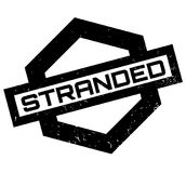 Stranded rubber stamp. Grunge design with dust scratches. Effects can be easily removed for a clean, crisp look. Color is easily changed Stock Photos
